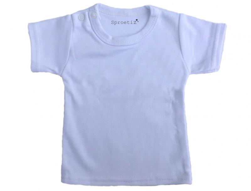 kinder t-shirt wit korte mouwen