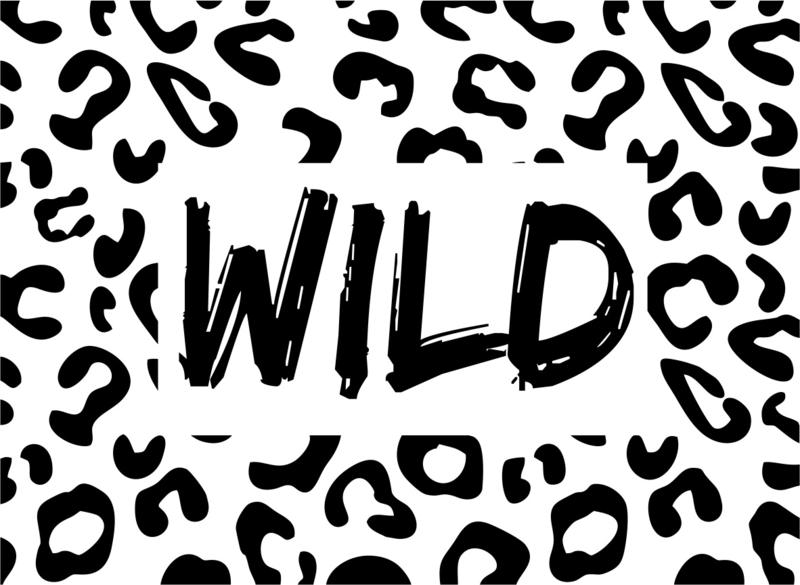 Strijkapplicatie panter Wild