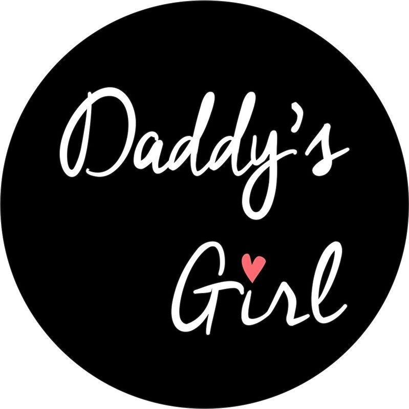 strijkapplicatie daddy's girl cirkel