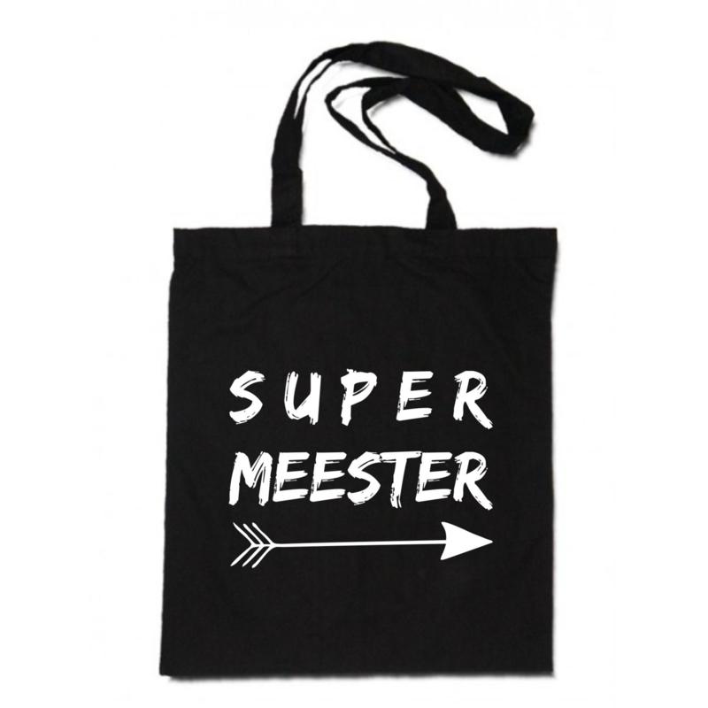 linnen tas -  Super meester pijl