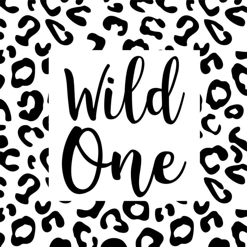 Strijkapplicatie panter Wild one