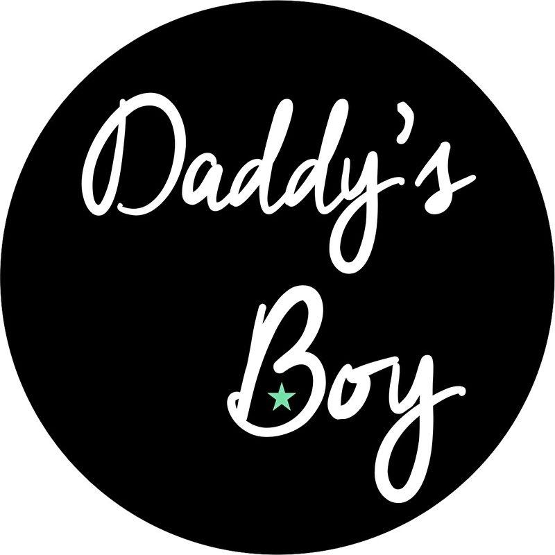 strijkapplicatie daddy's boy cirkel