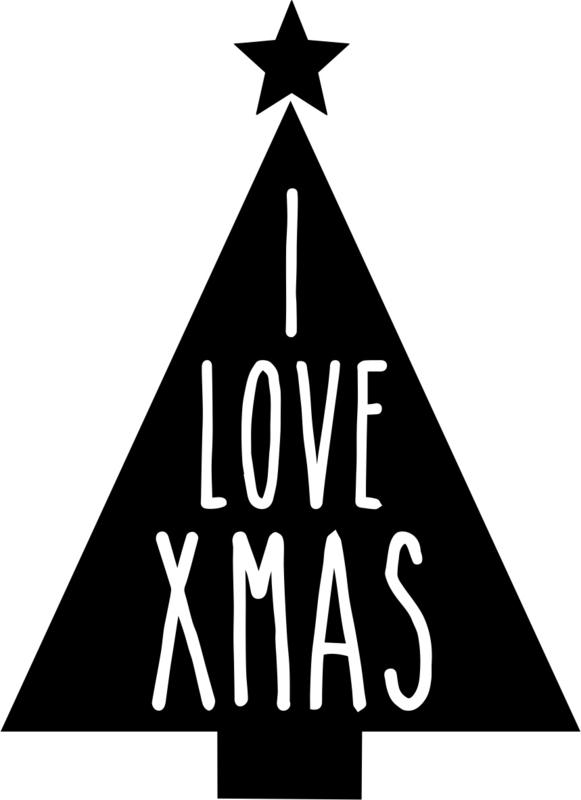 strijkapplicatie kerst i love xmas