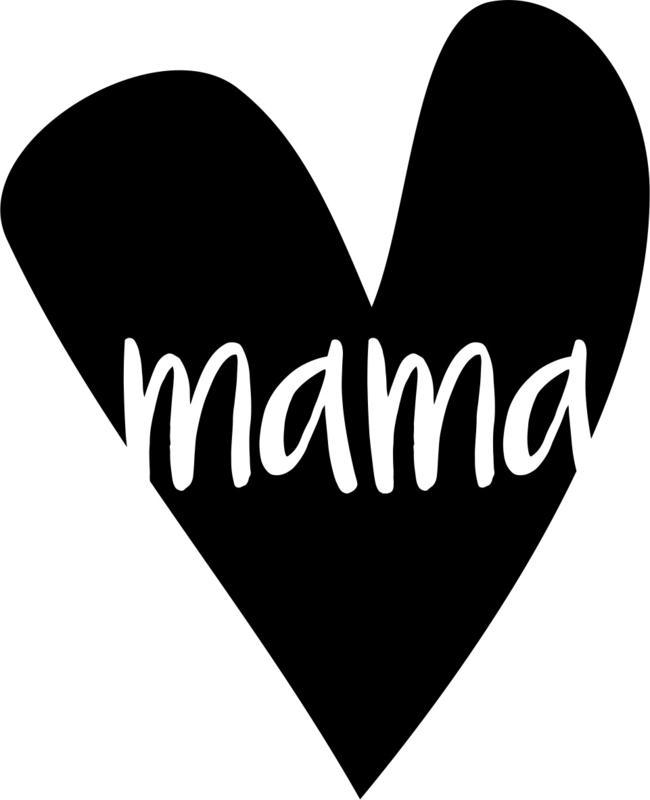 strijkapplicatie hart mama 2