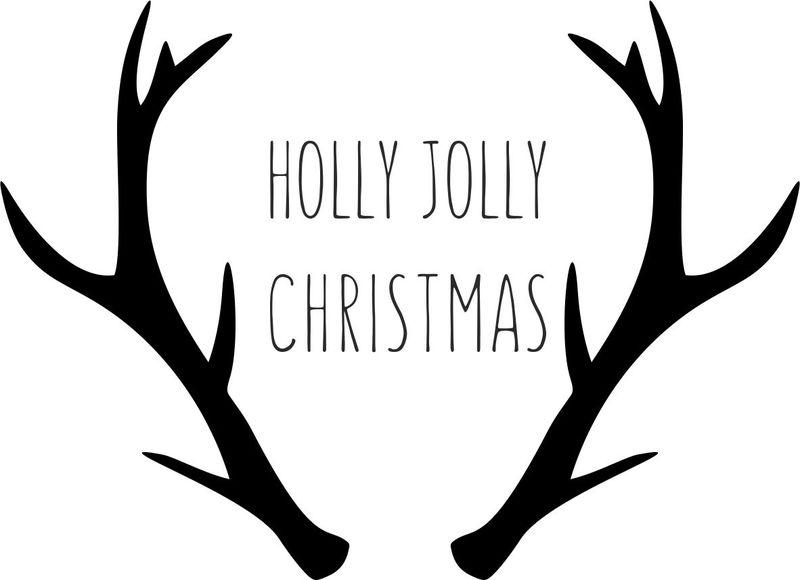 strijkapplicatie gewei 'holly jolly'