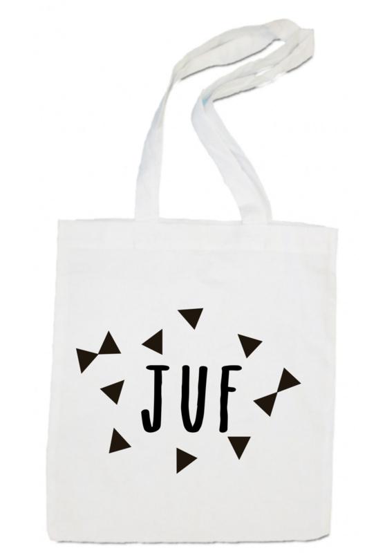 linnen tas -  Juf driehoek