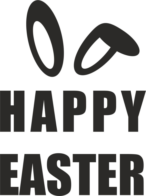 strijkapplicatie  'happy easter' (strak)
