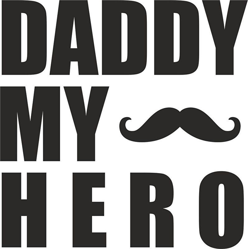 strijkapplicatie my dad my hero