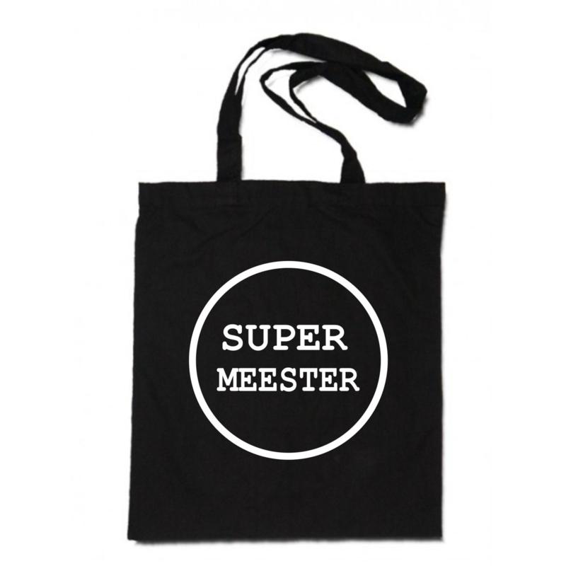 linnen tas -  Super meester