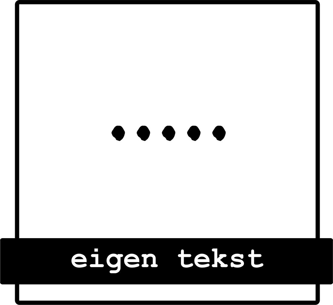 strijkapplicaties eigen tekst