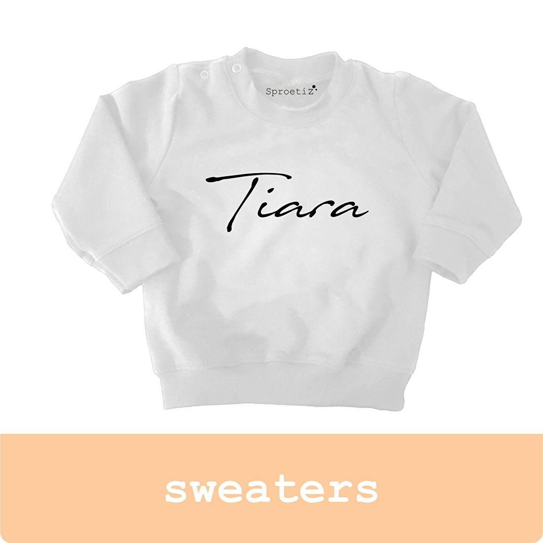 sweater bedrukt met naam