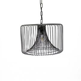 Zwarte metalen hanglamp mf 1823