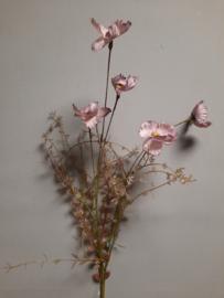 paarse kunstbloem