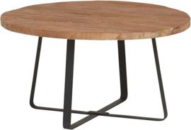 Industrial teak salontafel ø70cm