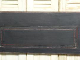 "Klepbank 220cm 3-spijl recht met armleuning ""Old Black"""