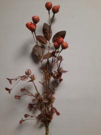rode kunstbloem