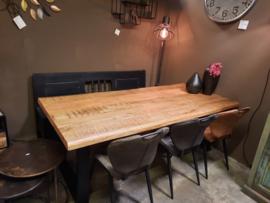 Mango tafel boomstamblad 220cm