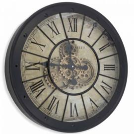 Klok Romeinse cijfers  L raderklok / tandwielklok / radarklok