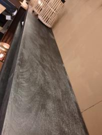Zwart  hangend mangohouten tv meubel 220cm