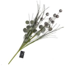 grijs/witte kunstbloem