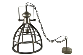 Black iron open hanging lamp Barbera m