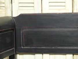 Nieuw klepbank 200cm 3-spijl recht met armleuning Old Black