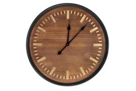 houten klok ,  wandklok