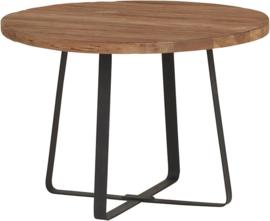 Industrial teak salontafel ø60cm