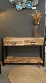 Mango houten side table wandtafel 120cm