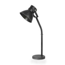 Zwarte industriële tafellamp sunburn