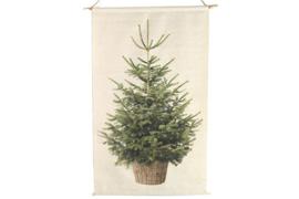 Kerstboom op  canvas met led-lichtjes m