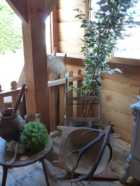Onze veranda en de entree