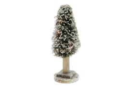 Verlichte rieten kerstboom