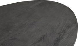 Zwarte mangohouten ronde eetkamertafel 140cm