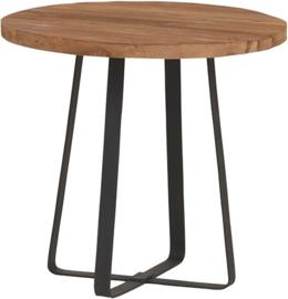 Industrial teak salontafel ø50cm
