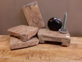 Bajotplanken s doorleefde houten plank snijplank hakblok
