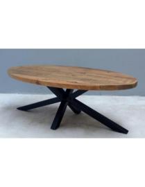 Ovale mangohouten salontafel 130cm