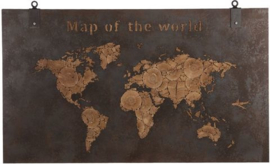 map of the world 140 x 80 cm