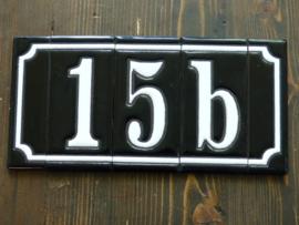 Handgeglazuurde huisnummers (Keramiek) cijfer of letter ZONDER zijkanten
