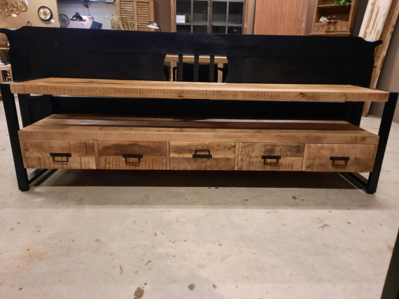 Tv meubel Brad 210 cm 5 lades