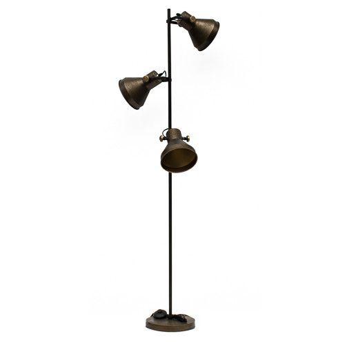 Vloerlamp bronskleurig 1842