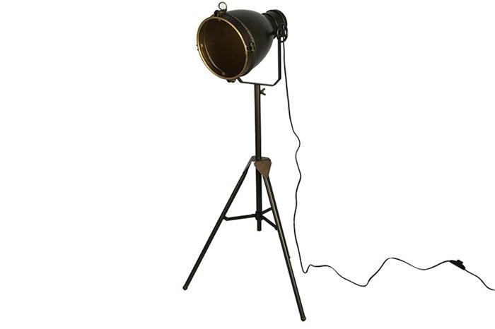 vloerlamp Guido L brons