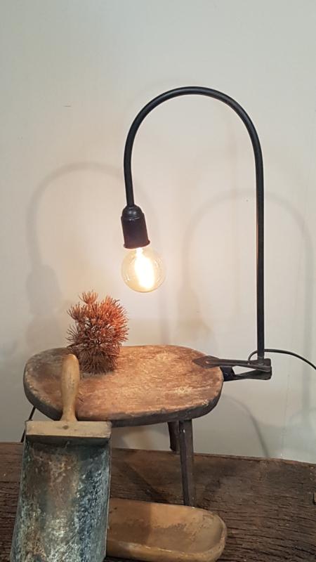 Zwarte klemlamp