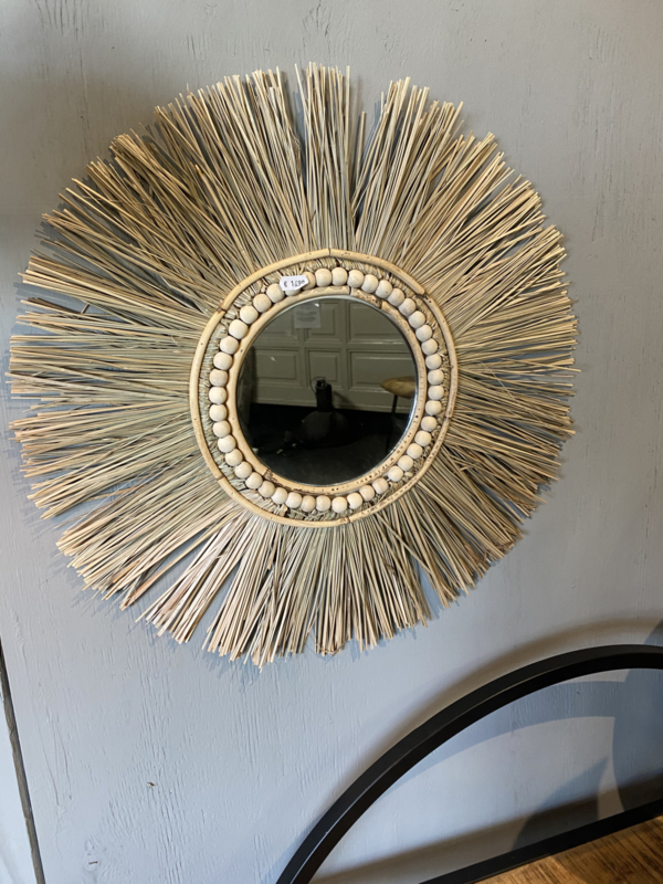 Raffia spiegel