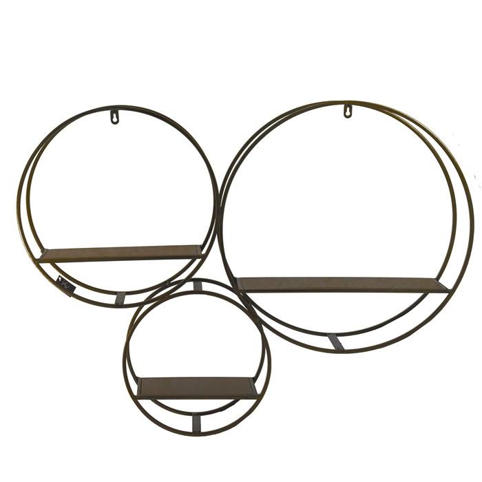 Wandrek metal 3-rondingen