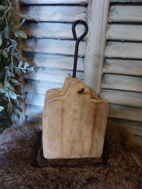 rekje met 6 houten onderzetters