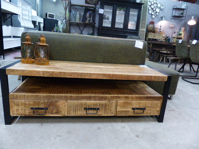 Tv Kast 150 Breed.Tv Kast Mango 150 Cm Breed Mango Acacia Old Wood Collectie