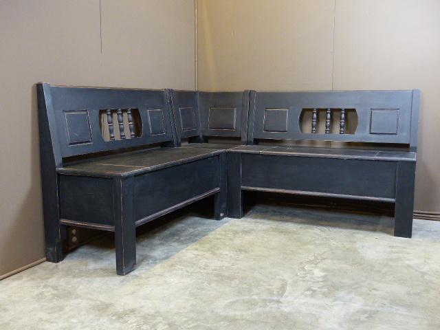 """Nieuw hoekklepbank 230cm x  130cm  """" Old Black"""""""
