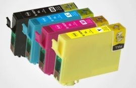 Set Epson T1811 tot T1814 XL huismerk met chip