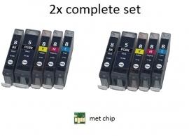 Geschikt Canon Pgi-5 en Cli-8 serie met chip  van inktpatronenexpress